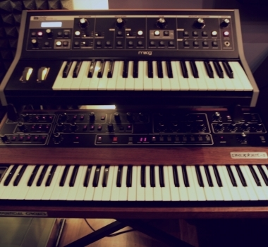 Sequential Circuits Prophet 5 and Moog Little Phatty Analog Synth